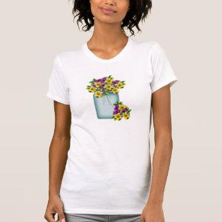 Het Overhemd van Pansies van de Kruik van de T Shirt