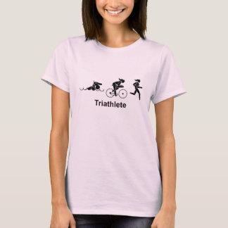 Het Overhemd van Triathlete van de vrouw T Shirt