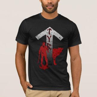 Het Overhemd van Tyr en van de Rune Fenrir T Shirt