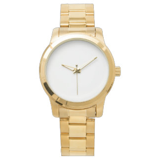 Het overmaatse Unisex- Gouden Horloge van de