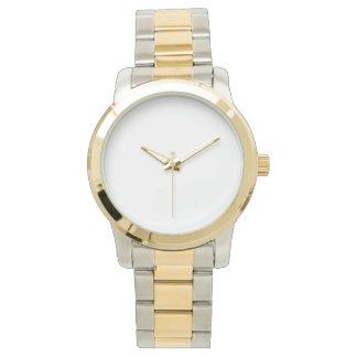 Het overmaatse Unisex- Tweekleurige Horloge van de