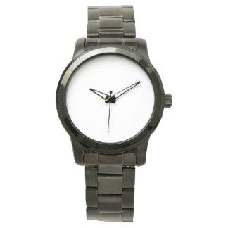 Het overmaatse Unisex- Zwarte Horloge van de