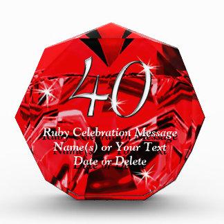 Het overweldigen van de Gepersonaliseerde 40ste Prijs