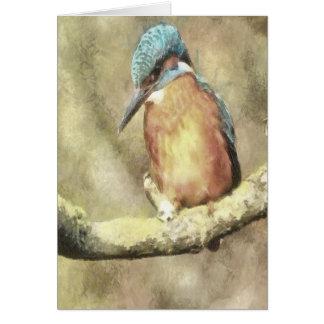 Het overweldigen van Ijsvogel in Waterverf Briefkaarten 0