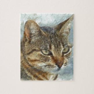 Het overweldigende Portret van de Kat van de Puzzel