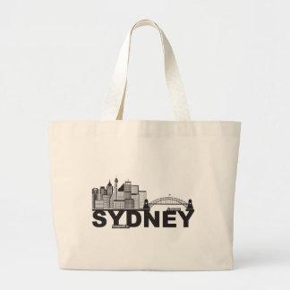 Het Overzicht van de Tekst van Sydney Australië Grote Draagtas