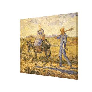 Het Paar die van de boer door Vincent van Gogh Canvas Afdruk