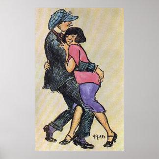 Het Paar van Berlijn het Dansen de Vroege jaren 19 Poster