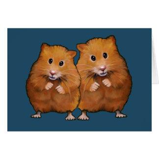 Het Paar van de hamster: Jubileum: U Twee bent zo Briefkaarten 0