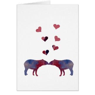 Het paar van de tapir briefkaarten 0
