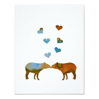 Het paar van de tapir kaart