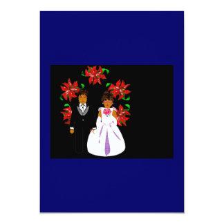 Het Paar van het Huwelijk van Kerstmis met de Blau Persoonlijke Aankondiging