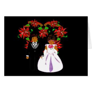 Het Paar van het Huwelijk van Kerstmis met de Notitiekaart