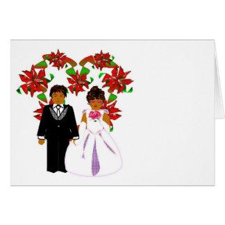Het Paar van het Huwelijk van Kerstmis met de Kroo Wenskaart