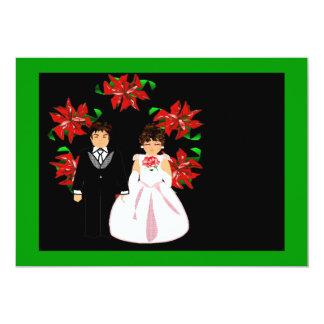 Het Paar van het Huwelijk van Kerstmis met de Uitnodigingen