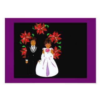 Het Paar van het Huwelijk van Kerstmis met het Aankondigingen