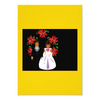 Het Paar van het Huwelijk van Kerstmis met Kroon i Gepersonaliseerde Uitnodigingen