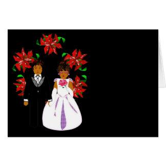 Het Paar van het Huwelijk van Kerstmis met Kroon Kaart