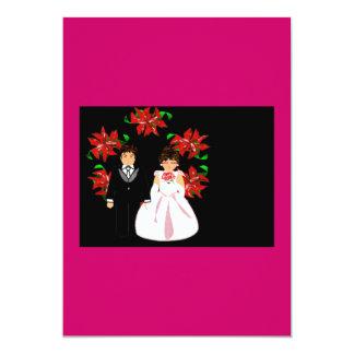 Het Paar van het Huwelijk van Kerstmis met Kroon Persoonlijke Aankondiging