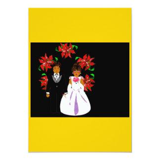 Het Paar van het Huwelijk van Kerstmis met Kroon Persoonlijke Uitnodigingen