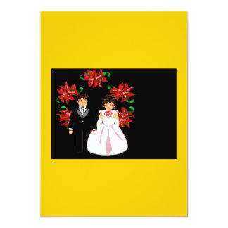 Het Paar van het Huwelijk van Kerstmis met Kroon Persoonlijke Uitnodiging