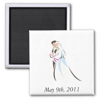 Het paar van het huwelijk vierkante magneet