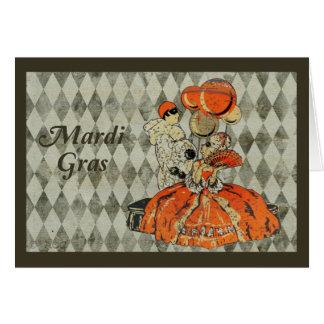 Het Paar van het Kostuum van Gras van Mardi Briefkaarten 0