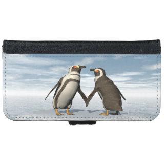 Het paar van pinguïnen iPhone 5 portefeuille hoesje