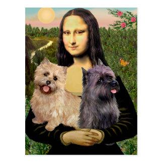 Het Paar van Terrier van de steenhoop - Mona Lisa Briefkaart