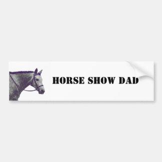 Het paard toont Papa - het Engels Bumpersticker