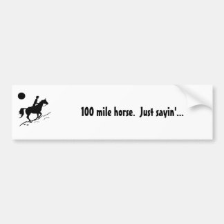 het paard van de 100 mijlduurzaamheid bumpersticker