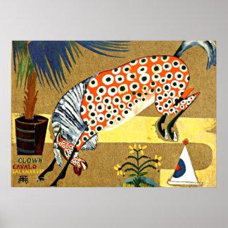 Het Paard van de clown, art. Salamandra - Poster