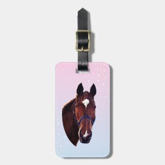 Het Paard van de kastanje met Witte Ster Kofferlabels