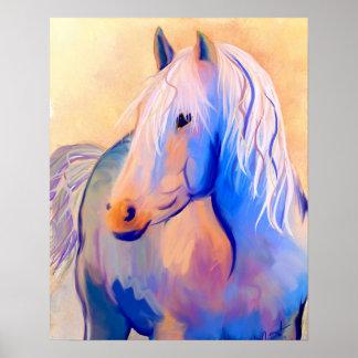 Het Paard van de pastelkleur Poster