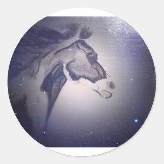 Het Paard van de winter Ronde Stickers