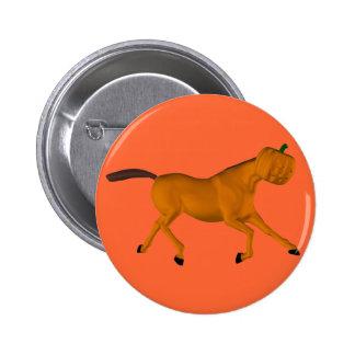 Het Paard van Halloween Ronde Button 5,7 Cm