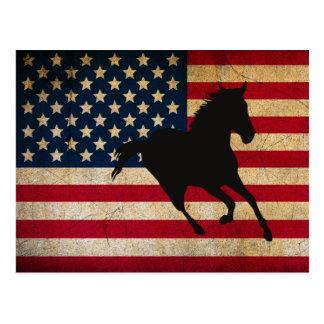 Het Paard van het silhouet en Patriottische Briefkaart