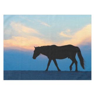 Het Paard van het Strand van de zonsondergang Tafelkleed