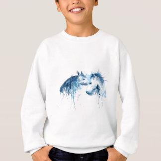 Het paardkus van de waterverf, paardliefde trui