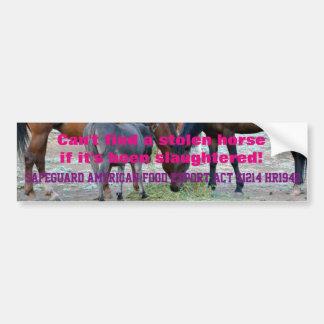 Het paardslachting van het verbod! bumpersticker