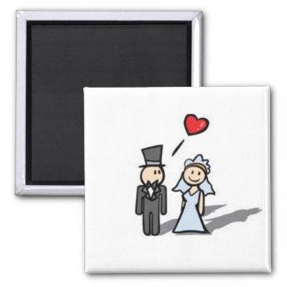 Het paarmagneet van het huwelijk magneet