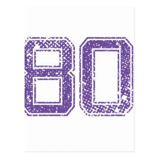 Het paarse Aantal 80.png van Jerzee van Sporten Briefkaart
