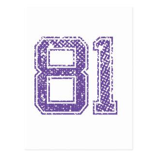 Het paarse Aantal 81.png van Jerzee van Sporten Briefkaart