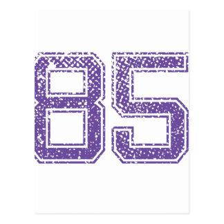 Het paarse Aantal 85.png van Jerzee van Sporten Briefkaart