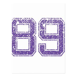 Het paarse Aantal 89.png van Jerzee van Sporten Briefkaart