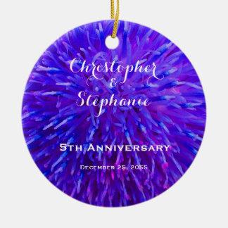 Het paarse Abstracte Ornament van Kerstmis van het