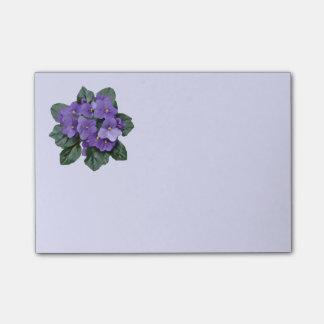 Het paarse Afrikaanse Violette BloemenArt. van de Post-it® Notes