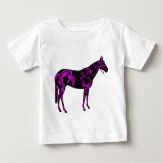 Het paarse Art. van het Paard Baby T Shirts