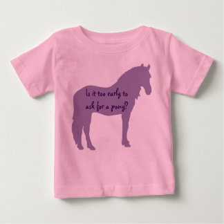 Het paarse Baby wil Pony Baby T Shirts