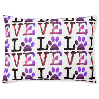 Het paarse Bed van de Hond van de Liefde van de Hondenbedden